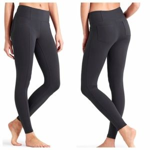 Athleta Metro Black High Rise Legging Sz Medium
